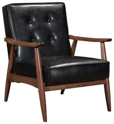 Rocky Arm Chair, Black, Black, swatch