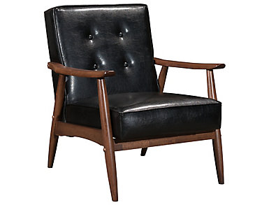 Rocky Arm Chair, Black, Black, large