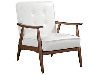 Rocky Arm Chair, White, large