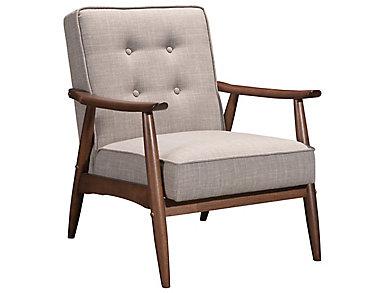 Rocky Arm Chair, Black, Beige, large