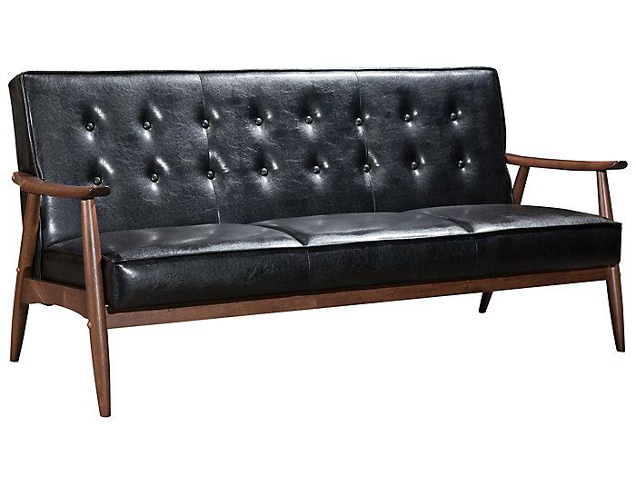 Rocky Tufted Sofa, Black, Black, large