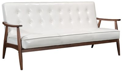 Rocky Tufted Sofa, Putty, White, swatch