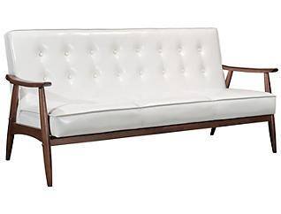 Rocky Tufted Sofa, White, large