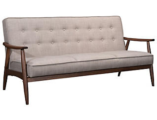 Rocky Tufted Sofa, Putty, large