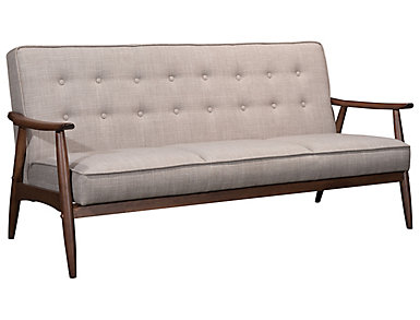 Rocky Tufted Sofa, Putty, Putty, large