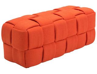 Checks Orange Bench, , large