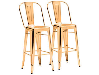 Elio Gold Bar Stool (Set of 2), , large