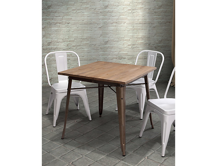 ... Titus Rustic Wood Dining Table, , Large ...