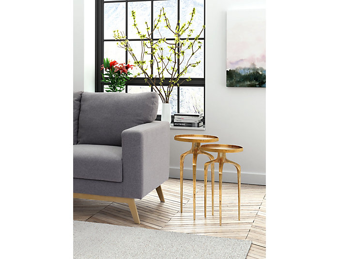 Como Gold Accent Table Set, , large