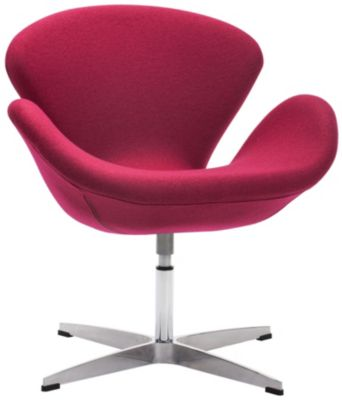 Pori Swivel Chair, Red, swatch