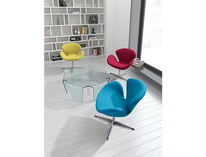 Pori Swivel Chair, Red, , large
