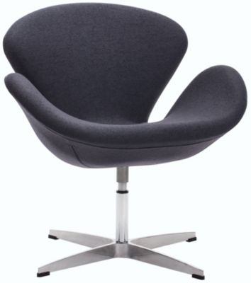 Pori Swivel Chair, Grey, swatch