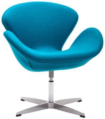 Pori Swivel Chair, Blue, swatch