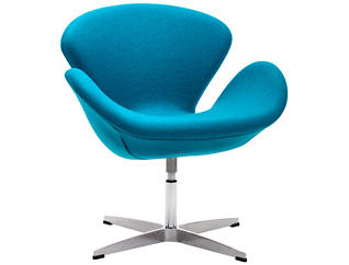 Pori Swivel Chair, Blue, , large