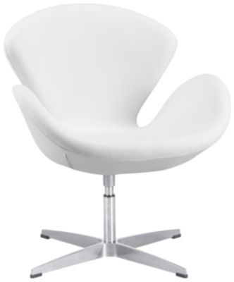 Pori Swivel Chair, White, swatch