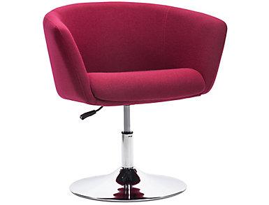 Umea Swivel Armchair, Red, large