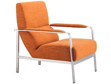 Jonkoping Armchair, Lime Green, Orange, large