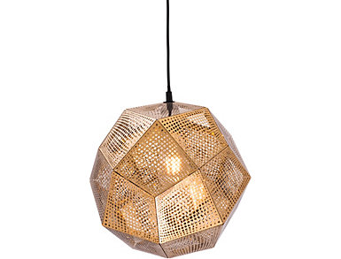 Bald Ceiling Lamp Gold, , large