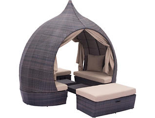 Pacific Canopy Daybed, Brown, , large