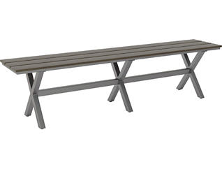 Baxter Dining Bench, Grey, , large