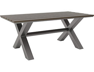 Baxter Dining Table, Grey, , large