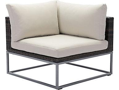 Exbury Corner Chair, Brown, , large