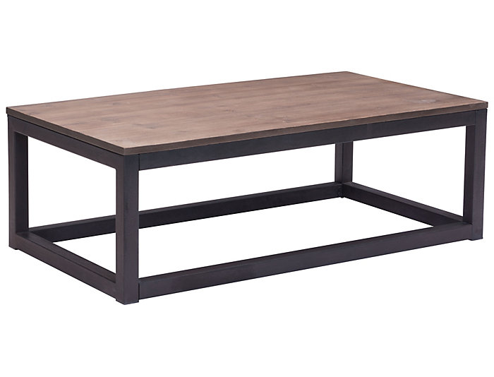 Civic Center Long Coffee Table, Beige, , large