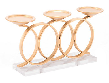Infinity Gold Candle Holder, , large