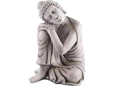 """23"""" Grey Thinking Buddha, , large"""