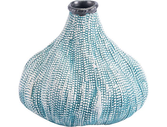 29 Silica Teal Vase Art Van Home