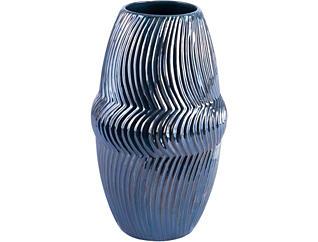 "13"" Spruce Blue Vase, , large"