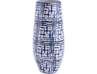 "21"" Rioja Blue & White Vase, , large"