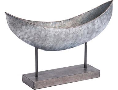 Grey Canoe Figurine, , large