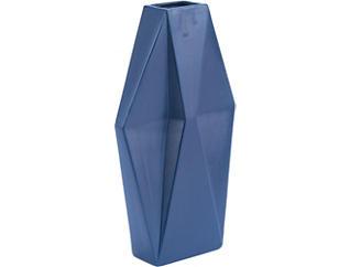 Blue Matte Angle Vase, , large