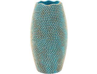 """Triton 19"""" Turquoise Vase, , large"""