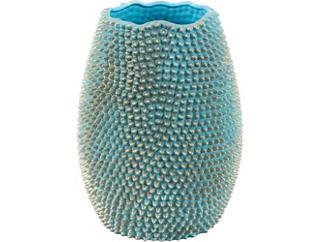 """Triton 13"""" Turquoise Vase, , large"""