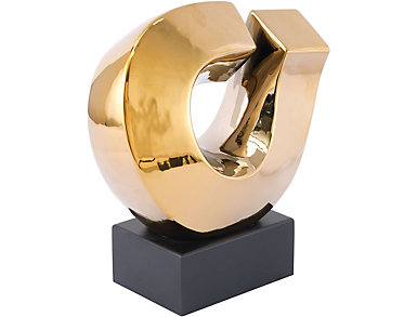 "Levo 15"" Gold Sculpture, , large"