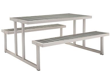 Cuomo Picnic Table, Silver, , large