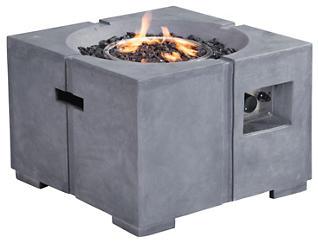 Dante Propane Fire Pit, Grey, , large