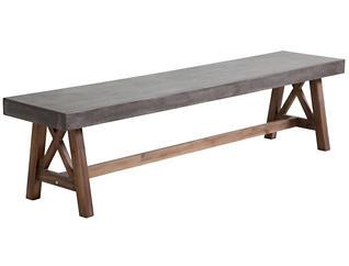 Otis Dining Bench, Grey, , large