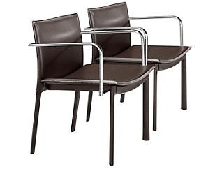 Gekko Brown Chairs (Set of 2), , large