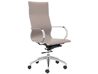 Akron Taupe HiBack Desk Chair, , large