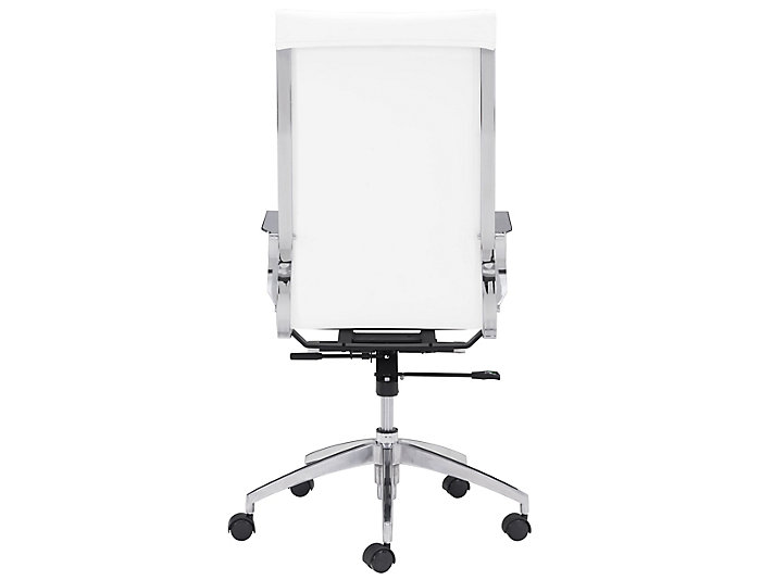 Akron White HiBack Desk Chair, , large