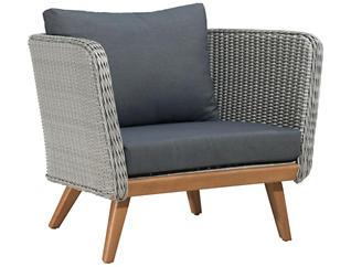 Seaside Arm Chair, Grey, , large