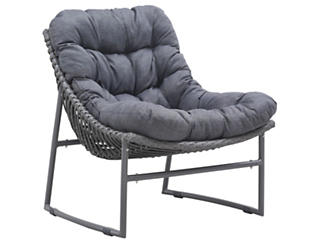 Ingonish Cushioned Chair, Grey, , large