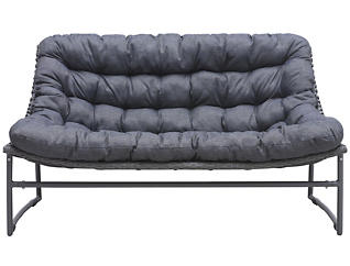Ingonish Cushioned Sofa, Grey, , large