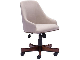 Maximus Beige Office Chair, , large