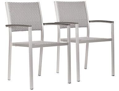 Metropolitan Arm Chair (Set of 2), Grey, , large