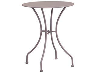 Oz Taupe Round Bistro Table, Taupe, , large