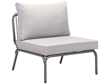 Pier Armless Chair, Grey, , large